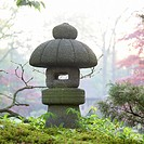 Stone lantern in Japanese garden