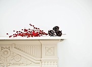 Festive decoration on mantlepiece
