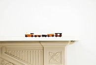 Toy train on a mantlepiece (thumbnail)