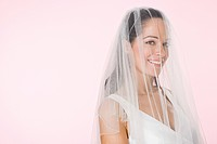 Bride wearing a veil