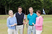 Four golfer friends (thumbnail)