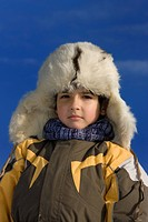 Boy winter portrait in the fur_cap