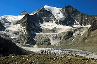 Moiry glacier cirque and Mt Pointes de Mourti, Pennine Alps, Valais, Switzerland
