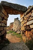 Villaggio nuragico Palmavera  Palmavera Nuraghe village  15th century B C  to 8th century B C  Alghero, island of Sardinia, Sassari province, Italy, E...