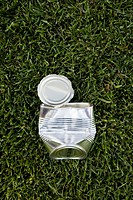 empty can on grass