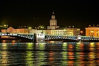 Russia St Petersburg at night