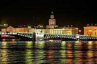 Russia St Petersburg at night