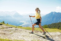 nordic walking woman