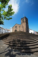 Sao Miguel Arcanjo church, in the town of Vila Franca do Campo  Sao Miguel island, Azores