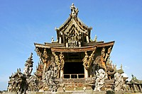 Sanctuary of Truth wooden temple Pattaya, Thailand