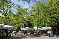 Germany Bavaria Munich market square Viktualienmarkt