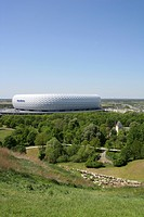 Soccer stadium Allianz Arena Munich Germany
