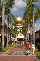 Singapore _ The Sultan Mosque at the end of Bussorah Street This is Singapore s most important mosque