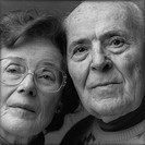 portrait elderly couple