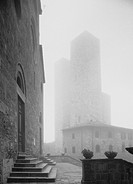 Towers in Mist, San Gimignano, Italy