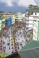 Mahatma Gandhi Marg MG Marg, the main shopping street, Gangtok, Sikkim, India, Asia