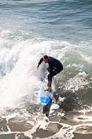 Surfer, Hermosa Beach, Los Angeles, California, United States of America, North America
