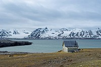 Blomstandhalvoya or Ny London historic site, Svalbard Archipelago, Norway, Arctic, Scandinavia, Europe