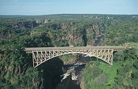 Bridge over Zambezi River, Victoria Falls, Zimbabwe