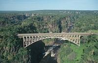 Bridge over Zambezi River, Victoria Falls, Zimbabwe