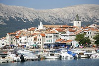 Croatia, Island Krk, Village Baska, Port