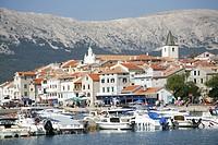 Croatia, Island Krk, Village Baska, Port
