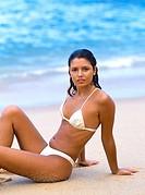 Brazil, Rio de Janeiro, Brazilian girl on the beach