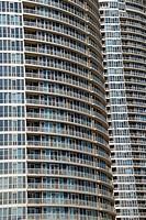 Residential buildings on Lake Ontario waterfront, Toronto, Ontario, Canada