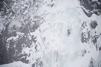 Ice climber, Mount Baker, Washington