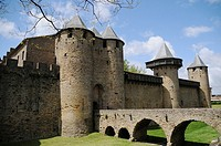 Fortified city of Carcassonne, Aude, Languedoc-Roussillon, France
