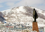 Statue of Lenin in city of Petropavlovsk-Kamchatsky in Kamchatka Russia
