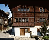 Switzerland, houses, homes, architecture, lane, near castle, Werdenberg, canton St. Gallen, facade, wood, typically