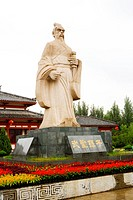Sun Tzu statue in The Art Of War Culture City Of China, Huimin County, Binzhou City, Shandong, China