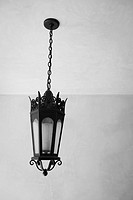 Detail Italianate lantern style chandelier