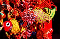 Colorful souvenirs sold in Ditan Spring Festival Temple fair, Beijing, China