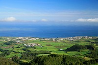 View of the azorean city of Ribeira Grande  Sao Miguel island, Azores, Portugal