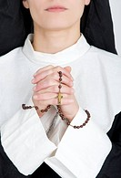 nun says a rosary