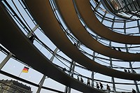 Berlin  Germany  The Bundestag dome by architect Norman Foster