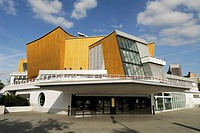 Berlin  Germany  Berlin Philharmonic Concert Hall Philharmonie designed by architect Hans Scharoun 1960 - 1963