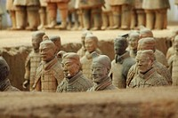 Excavations of the Terra Cotta Warriors in Xi´an China