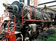 An old locomotive, Chinese railway system