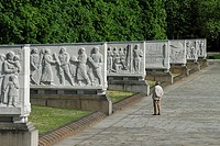 Berlin  Germany  Soviet War Memorial in Treptower Park, commemorates Soviet soldiers who fell in the battle for Berlin, Apr-May 1945