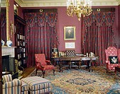 Interiors of a room, Treaty Room, The White House, Washington DC, USA