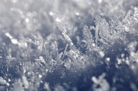 Snow, ice crystals, detail, close_up