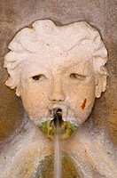 Close_up of a fountain, Casa del Rey Moro Garden, Balboa Park, San Diego, California, USA