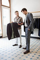 Man shopping for suit