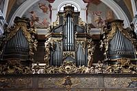 Slovenia, Ljubljana, St Nicholas Cathedral, interior, organ