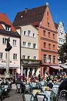 Germany, Bavaria, Füssen, street scene, people