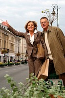 Mature couple on the street