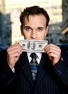 Man holding dollar